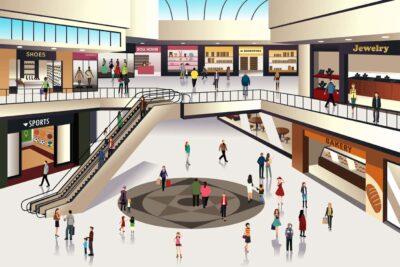 kompletní dodávky vybavení nákupních center