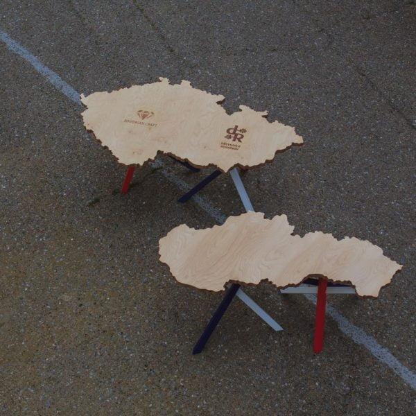 Table in the shape of Czechoslovakia